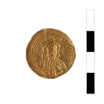 Byzantine Museum of Holy Bishopric of Tamasos and Oreinis (Cyprus): Histamenon of Constantine VIII (1025-1028) (TN120) Reverse
