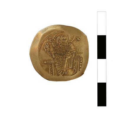 Byzantine Museum of Holy Bishopric of Tamasos and Oreinis (Cyprus): Hyperpyron of John II Komnenos (1118-1143) (TN123) Obverse
