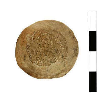 Byzantine Museum of Holy Bishopric of Tamasos and Oreinis (Cyprus): Hyperpyron of Manuel I Komnenos (1143-1180) (TN124) Obverse