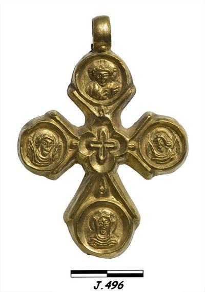 Department of Antiquities Republic of Cyprus: Gold pectoral cross (J. 496)