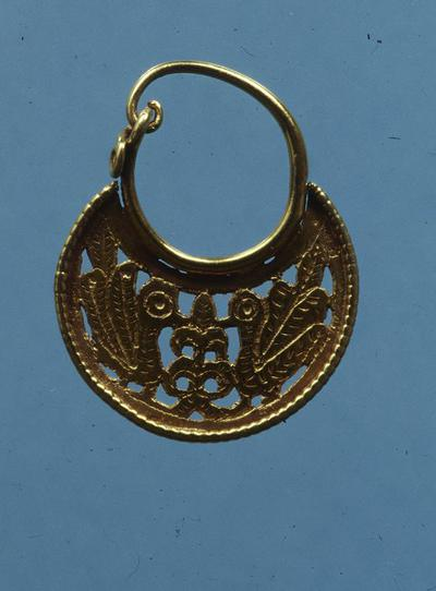Department of Antiquities Republic of Cyprus: Gold erarring, (J. 500)