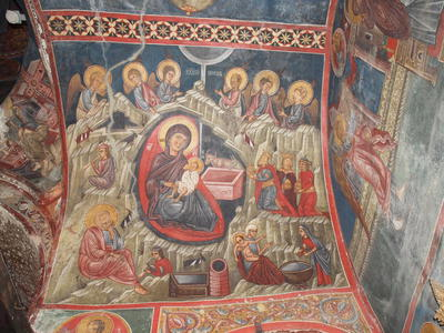 Department of Antiquities, Republic of Cyprus, Kakopetria, Church of Agios Nikolaos tis Stegis (St. Nicholas of the Roof), nave, east side of vault, south arm, wall painting