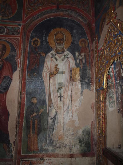 Department of Antiquities, Republic of Cyprus, Kakopetria, Church of Agios Nikolaos tis Stegis (St. Nicholas of the Roof), nave, east conch on south arm, wall painting