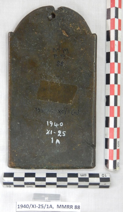 Cyprus Medieval Museum: Plaque (MM514, 1940/XI-25/1A,  MMRR 88)
