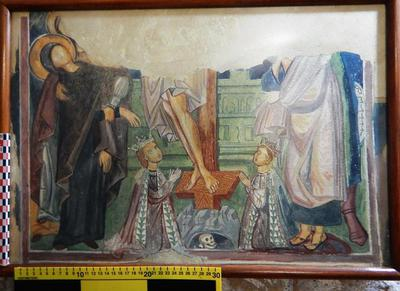Cyprus Medieval Museum: Wall painting Copy (MM794)