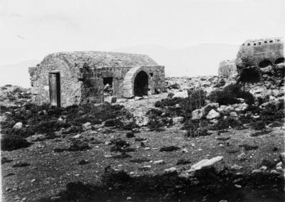 Department of Antiquities, Republic of Cyprus, Kyrenia, Chapel of Saint Catherine (Panagia Chrysocava) at Chrysocava, south-west view of church with the remains of Christian cemetery (1-1)