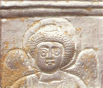 Μουσείο Ιεράς Μονής Κύκκου (Κύπρος): Αργυρό εξάπλευρο λεκανίδιο θυμιατηρίου, Άγγελος,  λεπτομέρεια