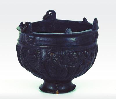 Μουσείο Ιεράς Μονής Κύκκου (Κύπρος): Χάλκινο χυτό θυμιατήρι με ανάγλυφες σκηνές από την Kαινή Διαθήκη (Ευαγγελισμός Θεοτόκου, Ασπασμός Ελισάβετ-Θεοτόκου, Γέννηση, Βάπτιση, Βαϊοφόρος, Σταύρωση, Ανάληψη του Χριστού) (Δ 212)