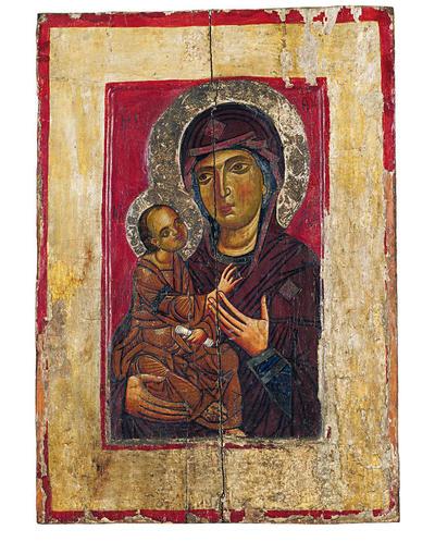 Μουσείο Ιεράς Μονής Κύκκου (Κύπρος): Εικόνα, Θεοτόκος  Δεξιοκρατούσα Οδηγήτρια (Ε 823)