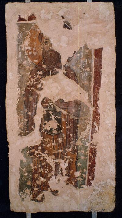 Μουσείο Ιεράς Μονής Κύκκου (Κύπρος): 'Αγιος Ανδρόνικος. Αποτοιχισμένη τοιχογραφία από το ναό Αγίου Αντωνίου, Κελλιά, Λάρνακα. (E 809)