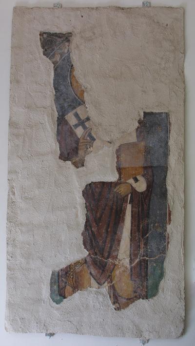 Μουσείο Ιεράς Μονής Κύκκου (Κύπρος): Αταύτιστος επίσκοπος. Αποτοιχισμένη τοιχογραφία από το ναό Αγίου Αντωνίου, Κελλιά, Λάρνακα. (E 813)