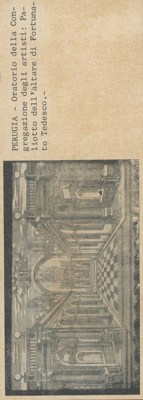 Perugia: Oratorio della Congregazione degli Artisti: Altare di Fortunato Tedesco