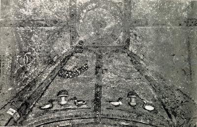 Roma, Battistero Laterano, Cappella di San Giovanni Evangelista: mosaico della volta (secondo Wilpert)