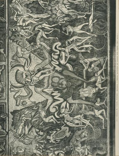 (Ed.ne Alinari) No 17246 Firenze - Battistero. L'inferno, particolare del mosaico della cupola (XIII secolo)