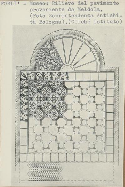 Forlì - Museo: Rilievo dela pavimento proveniente da Meldola. (Foto Soprintendenza Antichità Bologna)
