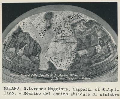 Milano: S. Lorenzo Maggiore, Cappella di S. Aquilino - Mosaico del catino absidale di sinistra