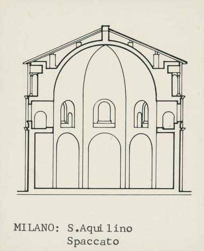 Milano: S. Aquilino. Spaccato