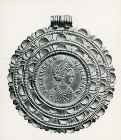 Galla Placidia, multiplo da quattro solidi, dritto