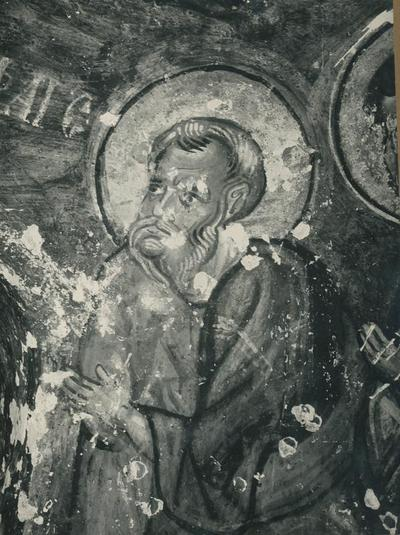 Karabas Kilise (1060-1061): Détail de la Communion des Apôtres. Soganli (Turchia)