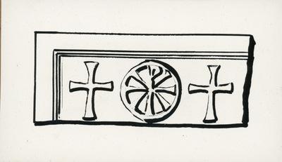 Castiglione di Ravenna: chiesa episcopale. Pluteo proveniente da S. Giovanni Evangelista