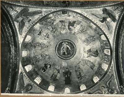 Venezia. Basilica di S. Marco, il Redentore benedicente, mosaico della volta di una cupola