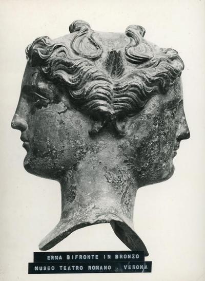 Erma bifronte in bronzo. Museo Teatro Romano-Verona