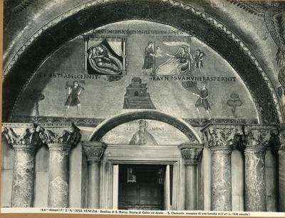 Venezia. Basilica di S. Marco. Storia di Caino e Abele. S. Clemente, musaico di una lunetta nell'atrio (XIII secolo)