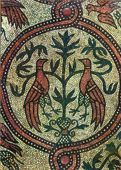 Venezia. Basilica di S. Marco. Pavimento a Mosaico XII sec. Colombe. Braccio destro del transetto