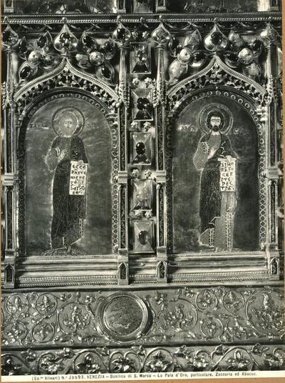 Venezia. Basilica di S. Marco. La Pala d'Oro, particolare. Zaccaria e Abacuc