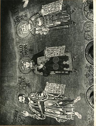 Venezia. Basilica di S. Marco. Profeti, dettaglio della cupola orientale (Musaico del XIII secolo)