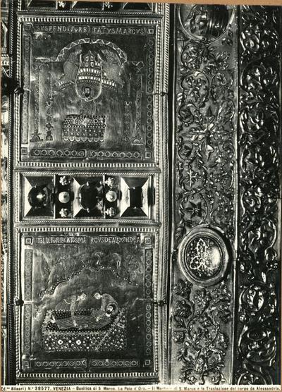 Venezia. Basilica di S. Marco. La Pala d'Oro. Il martirio di S. Marco e la Traslazione del corpo da Alessandria