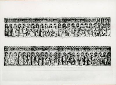 La processione del Doge alla Domenica delle Palme incisa a Venezia per Mattio Pagan 1556.1569, dettaglio. Venezia,  Museo Correr