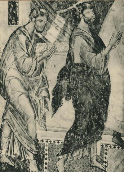 Resava (Jugoslavia). Gli Apostoli Marco e Luca (dalla Comunione degli Apostoli). (XV secolo)