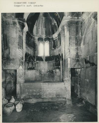 Goshavank (URSS). Cappella sud: interno
