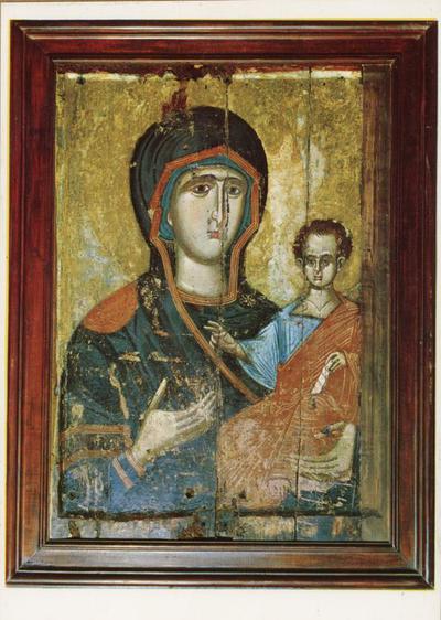 Salonicco: S. Nicola Orphanos. Icona portatile della Vergine del monastero di Vlatadon (XIV secolo)