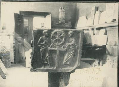 Split (Jugoslavia). Museo Archeologico: fianco di sarcofago