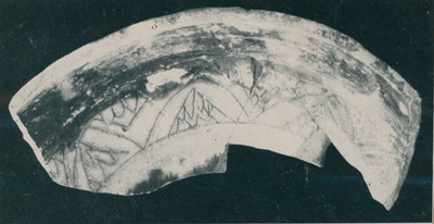 Hierapolis (Turchia). Case delle terme. Ceramica invetriata a sgraffito rinvenuta nel I ambiente del fabbricato occidentale