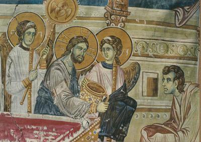 Staro Nagoričane- Monastero (Jugoslavia). La Comunione degli Apostoli