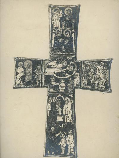 Biblioteca Vaticana. Museo saco. Sancta Sanctorum, la croce smaltata (secolo VI-VII)