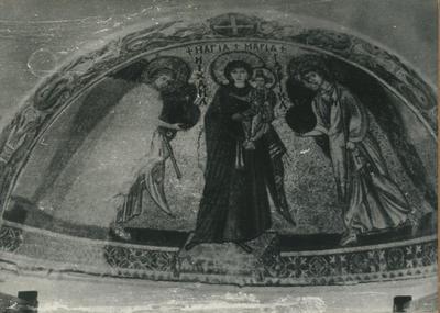 Kiti (presso Larnaka)- Cipro- Panagia Angeloktistos. mosaico absidale (Ihm, Tav. XVIII, 2 )
