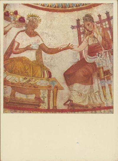 Kazanlik (Bulgaria): Tomba. Pranzo funebre del duce trace  e di sua moglie (IV sec. a.C.)