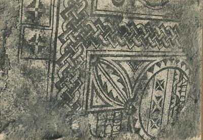 S. Canzian d'Isonzo. (Gorizia) Basilica dei Santi Canziani. Particolare del mosaico pavimentale con l'iscrizione dell'offerente