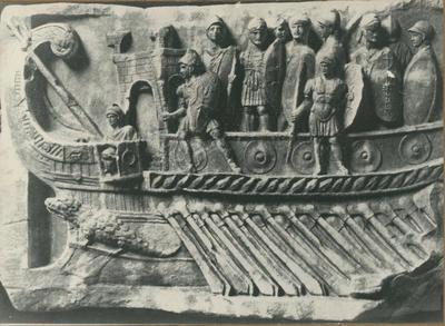 Roma, Musei Vaticani, Bireme romana del I sec. a.C. (Bassorilievo proveniente da Palestrina)