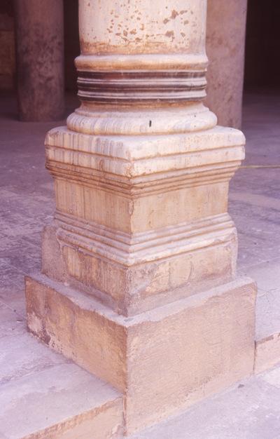 Egypt, Cairo Citadel, column base of the prayer hall of Al-Nasir Muhammad Mosque