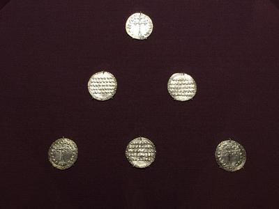 Bulgaria, Archaeological Museum of Preslav, Preslav Treasure, fifteen miliaresia of Constantine VII and Romanos II