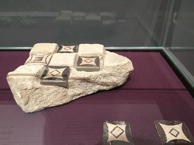 Bulgaria, Archaeological Museum of Preslav, tile decoration sample