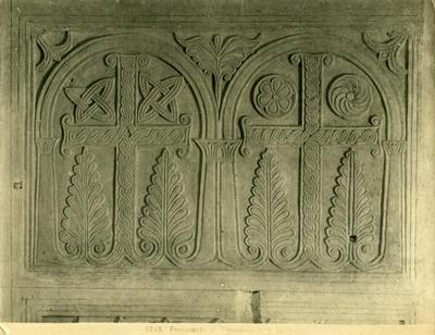 Rome, S. Sabina basilica, slab with two crosses inscribed in arches and phytomorphic elements
