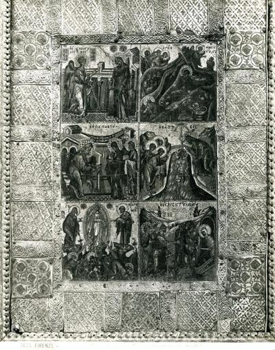 Ed. Alinari 7675 - Firenze - Museo di S. Maria del Fiore - Mosaico bizantino, con montatura d'argento, del secolo XI