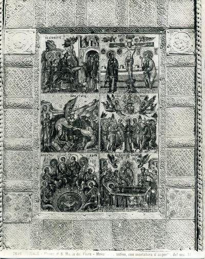 Ed. Alinari 7676 - Firenze - Museo di S. Maria del Fiore - Mosaico bizantino, con montatura d'argento, del secolo XI