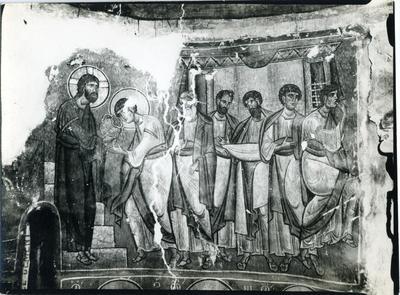 Asinou - Comunione degli Apostoli - Abside - Directorate of Antiquities, Cyprus, Neg. N° C. 2951